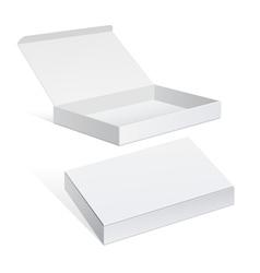 White package cardboard box set vector
