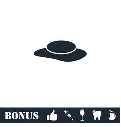 womens hat icon flat vector image