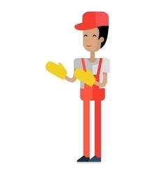 Worker in Flat Design vector image