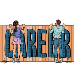 Youth and career barriers discrimination against vector
