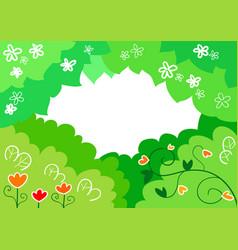 cartoon spring background vector image vector image