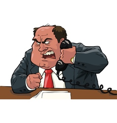 evil boss with handset vector image