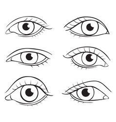 eyes different shapes vector image