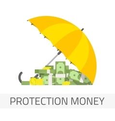 Protection money concept vector