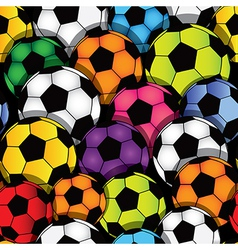 soccer seamless texture vector image