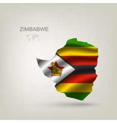 flag of Zimbabwe as a country vector image vector image
