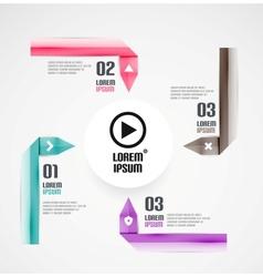 Modern ribbon background vector image