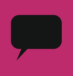 retro converse speech bubble icon vector image vector image