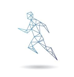 Sports man running vector