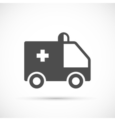 Ambulance simple icon vector image vector image