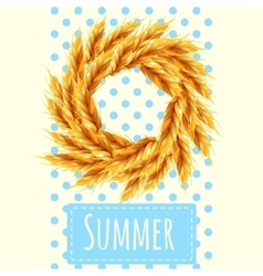 Sheaf as a symbol of the summer and autumn vector image