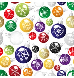 shiny christmas decoration with snowflake seamless vector image vector image