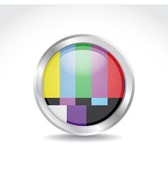 TV color button vector image