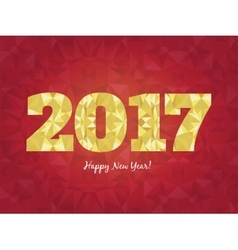 2017 Happy New Year background with golden vector image