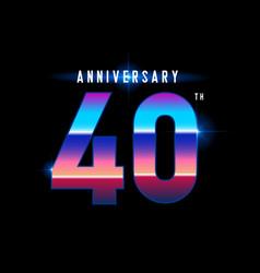 40 years anniversary celebration logotype vector