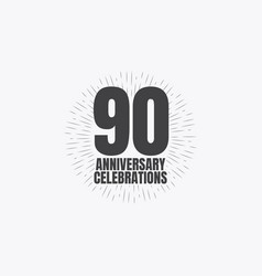90 years anniversary celebrations template design vector
