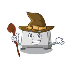 A mascot concept bread toaster performed as a vector
