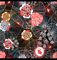 abstract seamless pattern with fantastic vector image