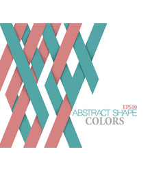 Abstract shape colors on a white vector