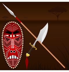 African weapons vector image