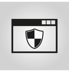 Antivirus icon Antivirus design Firewall vector image