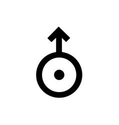 Astronomical symbol of uranus vector