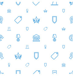 Badge icons pattern seamless white background vector