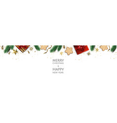 Banner with christmas balls and stars great for vector
