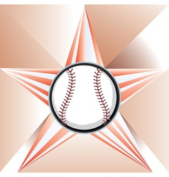 Baseball ball on background with rays vector