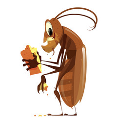 Cartoon cockroach vector