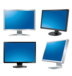 Computer monitors vector