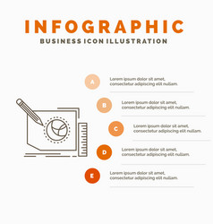 content design frame page text infographics vector image