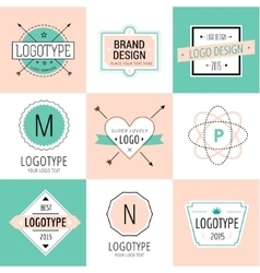 Design elements Vintage retro style Arrows vector image