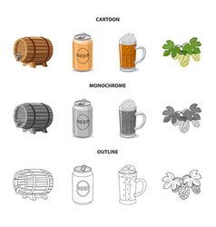 design pub and bar icon collection of vector image