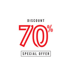 Discount 70 special offer template design vector