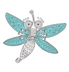 Dragon fly doodle vector