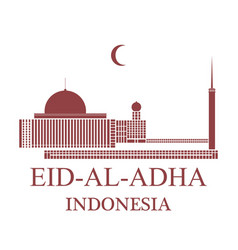 Eid al adha indonesia vector