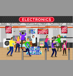Electronics store sale shopping shop with offers vector
