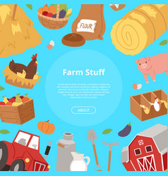 farm stuff and agribusiness background bannner vector image