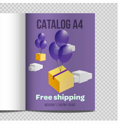 Fast catalog a4 sheet vector