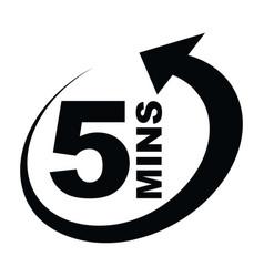 Five minutes icon vector