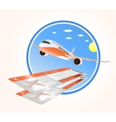 flights to vacation and air ticket vector image
