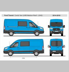 Ford transit combi delivery van l3h2 2014-2018 vector