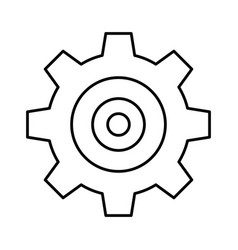 Gear wheel icon vector