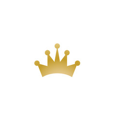 Gold crown logo icon element vector