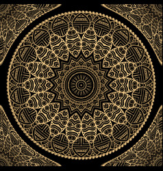 Gold floral seamless pattern lace ornamental vector