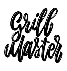 Grill master lettering phrase isolated on white vector