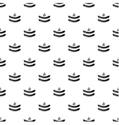 Grilled sausages pattern seamless vector
