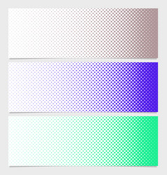 Halftone dot pattern banner template - graphic vector