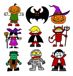 Halloween character cartoon vector image